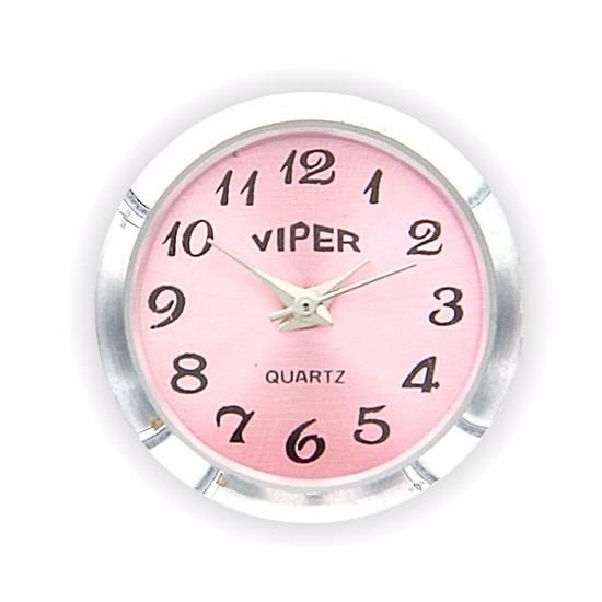 Chunk met klok roze 1,8 cm