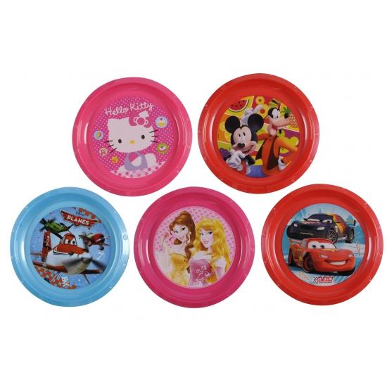 Disney cars bord 21 cm. dit rode plastic bordje met vrolijke plaatjes van disney cars heeft een formaat van ...