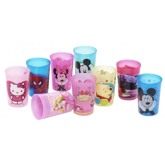 Disney princess beker van plastic. deze roze plastic beker met vrolijke plaatjes van disney princess heeft ...