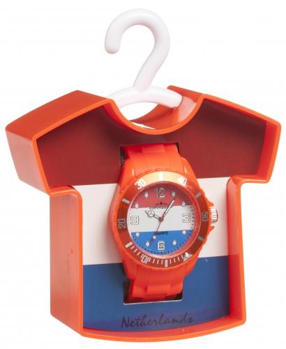 Holland horloge met rood wit blauwe klok