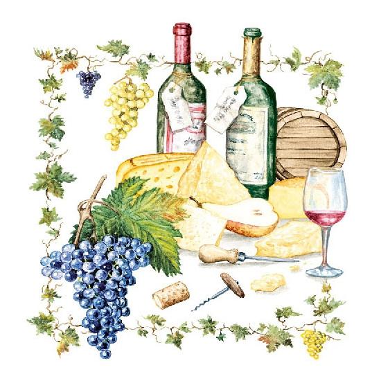 Wijn/kaas servetten 20 ...