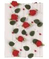 Decoratie rode roosjes aan slinger 2 meter