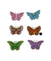 Decoratie vlinder bruin