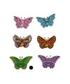 Decoratie vlinder groen