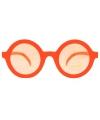 Nerd feest brillen oranje