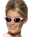 Roze zonnebril met diamantjes