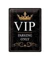 VIP parking muurdecoratie van metaal