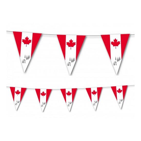 Landen versiering en vlaggen Geen Canada vlaggenlijn 3,5 meter