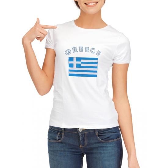 Landen versiering en vlaggen Griekenland t shirt met vlag