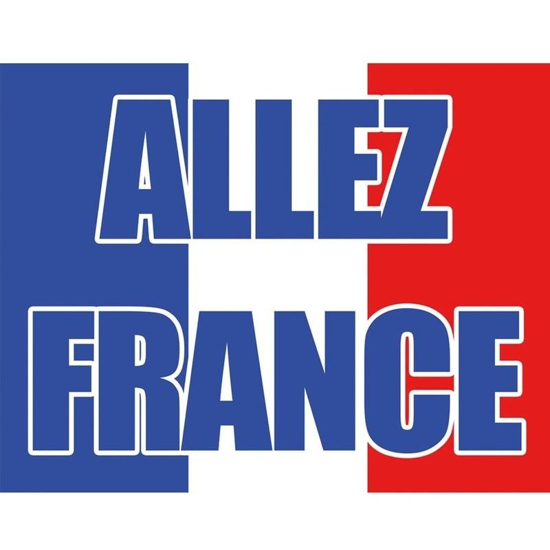 Landen versiering en vlaggen Landen Franse vlag met tekst Allez France