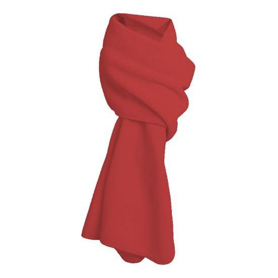 Lange rode fleece sjaal