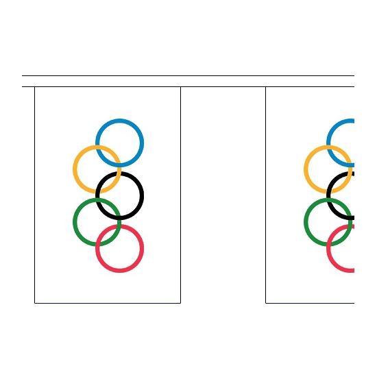 Olympische vlaggenlijn 9 meter Geen Kopen