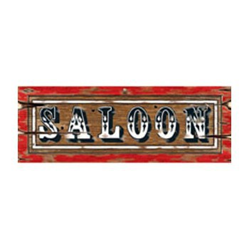 Thema feestartikelen Geen Saloon decoratie bord 55 x 20 cm