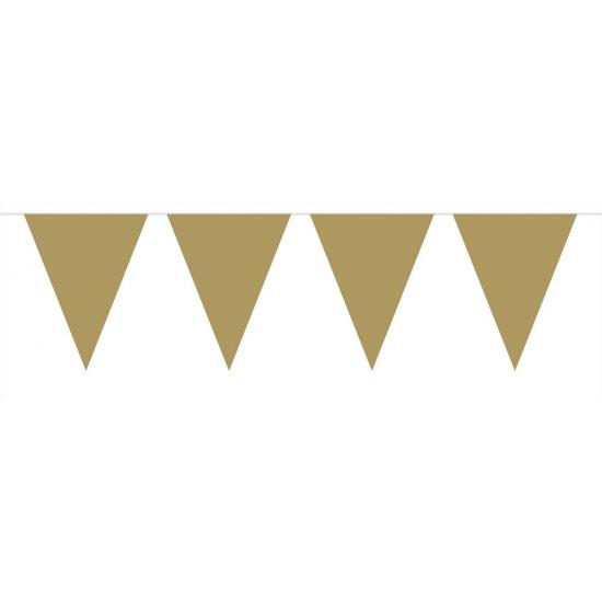 Kleuren versiering Vlaggenlijn XL goud 6 meter