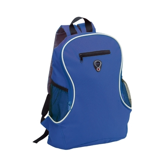 0b9abf4e3f1 Voordelige backpack rugzak blauw. een voordelige rugzak in de kleur blauw  met 2 flessenhouders en