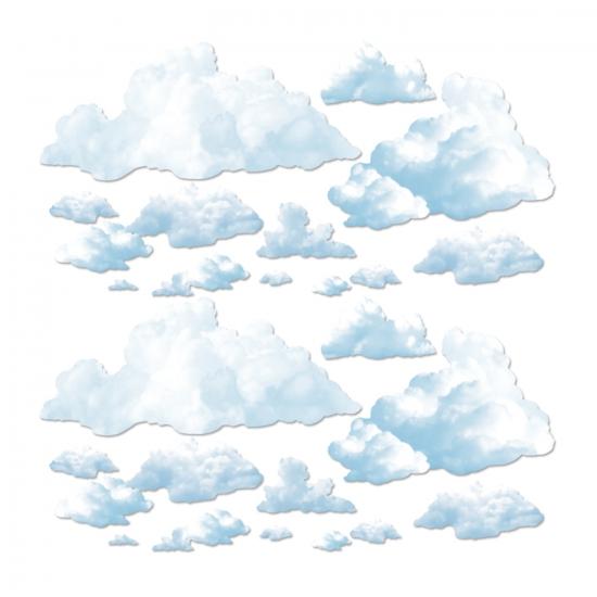 Wolken scenesetter decoratie 24 delig Geen Feestartikelen diversen