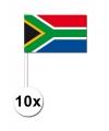 Landen Zwaaivlaggetjes Zuid Afrika 10x