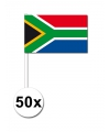 Landen Zwaaivlaggetjes Zuid Afrika 50x