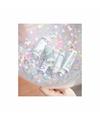 Confetti vulset met 10 hartjes ballonnen