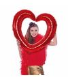 Folie  foto frame hart  rood 80  x 75 cm