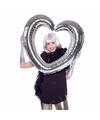 Folie  foto frame hart zilver 80  x 75 cm