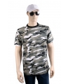 Grijs camouflage t-shirt korte mouw