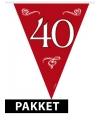 Rood versiering pakket 40 jaar