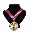 Number 1 medaille lint rood/wit/blauw