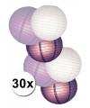 Witte en paarse lampionnen pakketten