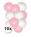 Roze en witte lampionnen pakketten