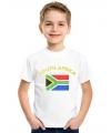 Landen kinder t-shirt vlag Zuid-Afrika