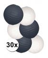 Witte en zwarte lampionnen pakketten