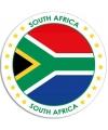 Zuid Afrika sticker rond