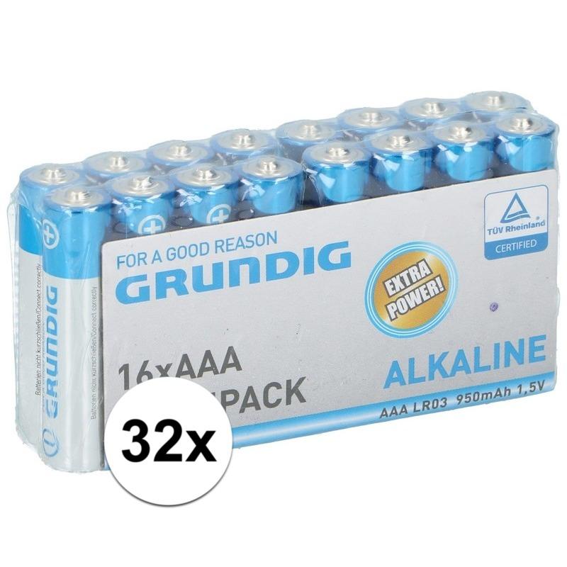 32x Grundig AAA batterijen alkaline - Action products