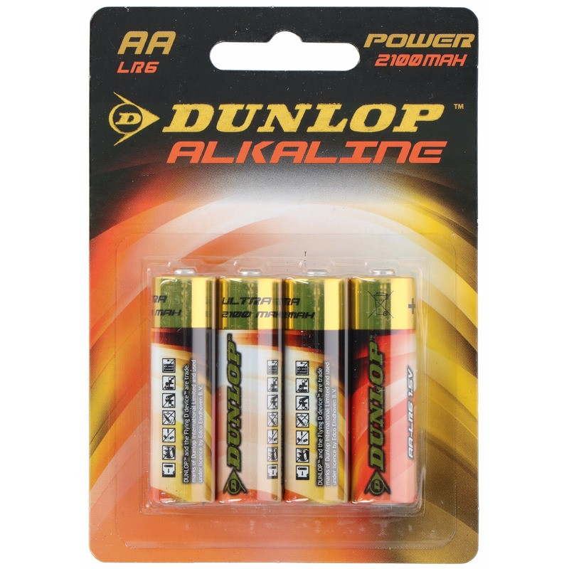 Alkaline batterijen LR6 AA Dunlop 4 stuks - Action products