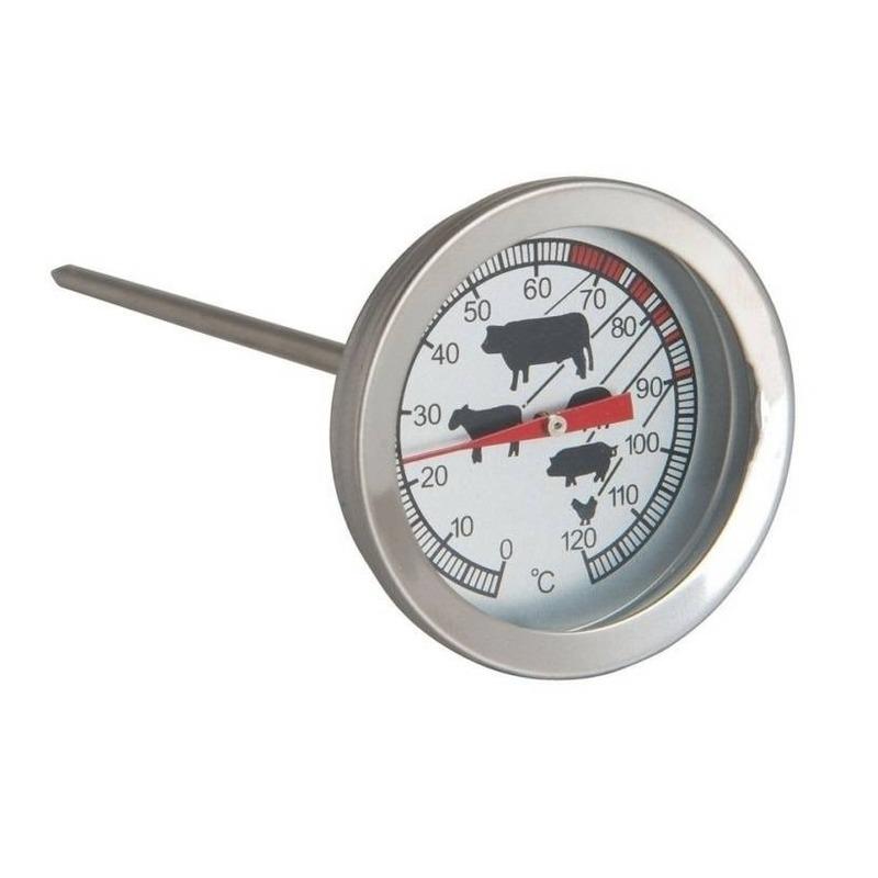 Analoge vleesthermometer / keuken thermometer RVS