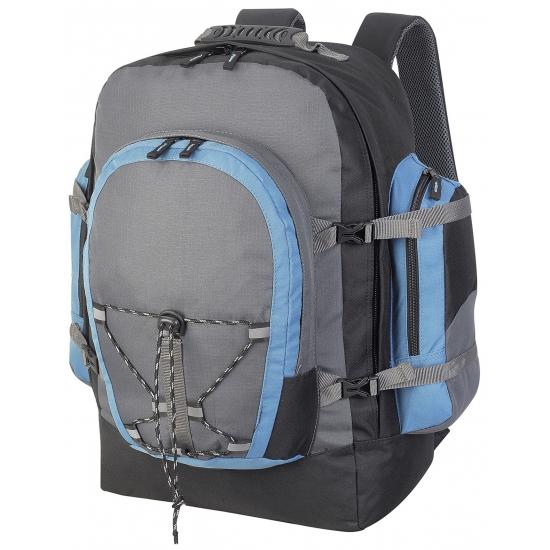 dc87c288680 Backpackers rugzak grijs 40 liter. deze grote rugzak is voorzien van  verstelbare gevoerde schouderriemen,