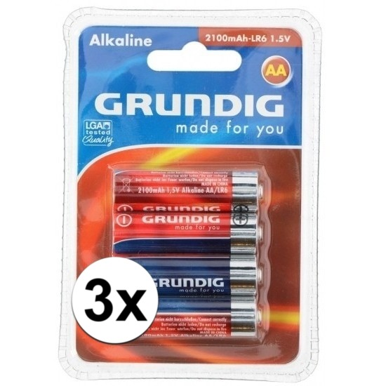 Batterijen LR6 AA Grundig 12 stuks - Action products