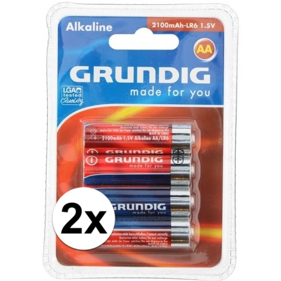 Batterijen LR6 AA Grundig 8 stuks - Action products