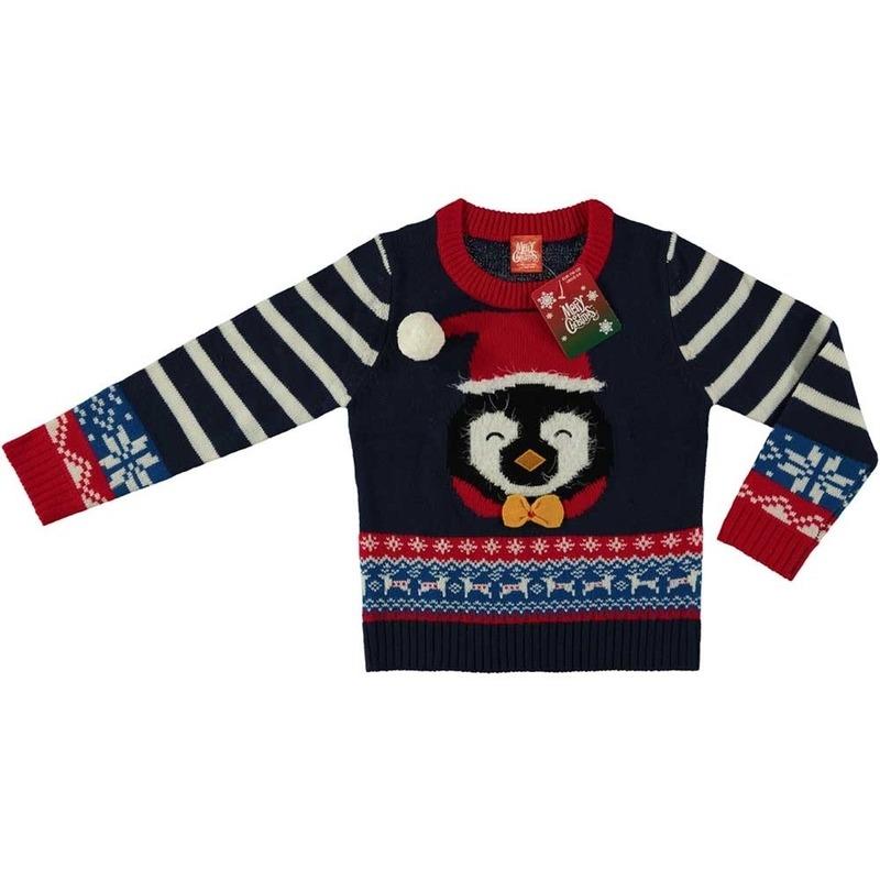 Frozen Kersttrui.Blauwe Kersttrui Pinguin Voor Kinderen Primodo Warenhuis