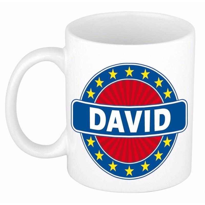 Cadeau mok voor collega David Cadeau /kados--gadgets/koffie-thee-mokken/naam-mokken/jongens