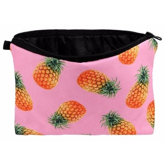 Etui met ananas design 20 x 14 cm