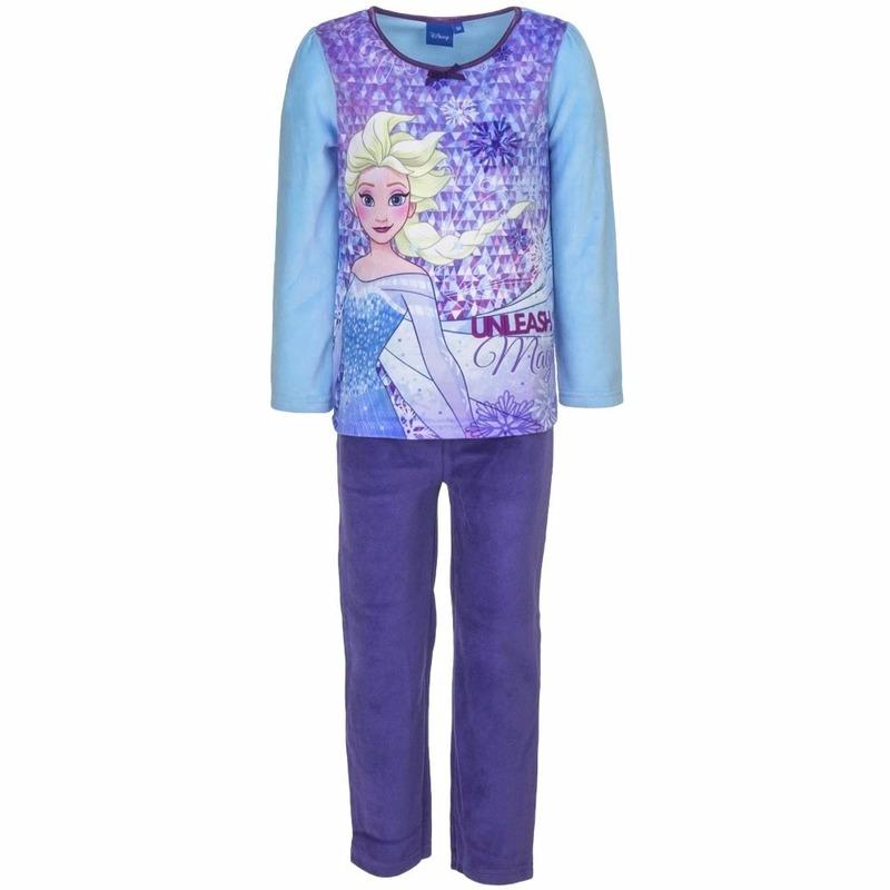 e89232c1cde14b Frozen elsa velours pyjama blauw voor meisjes. de frozen meiden pyjama met  een afbeelding elsa