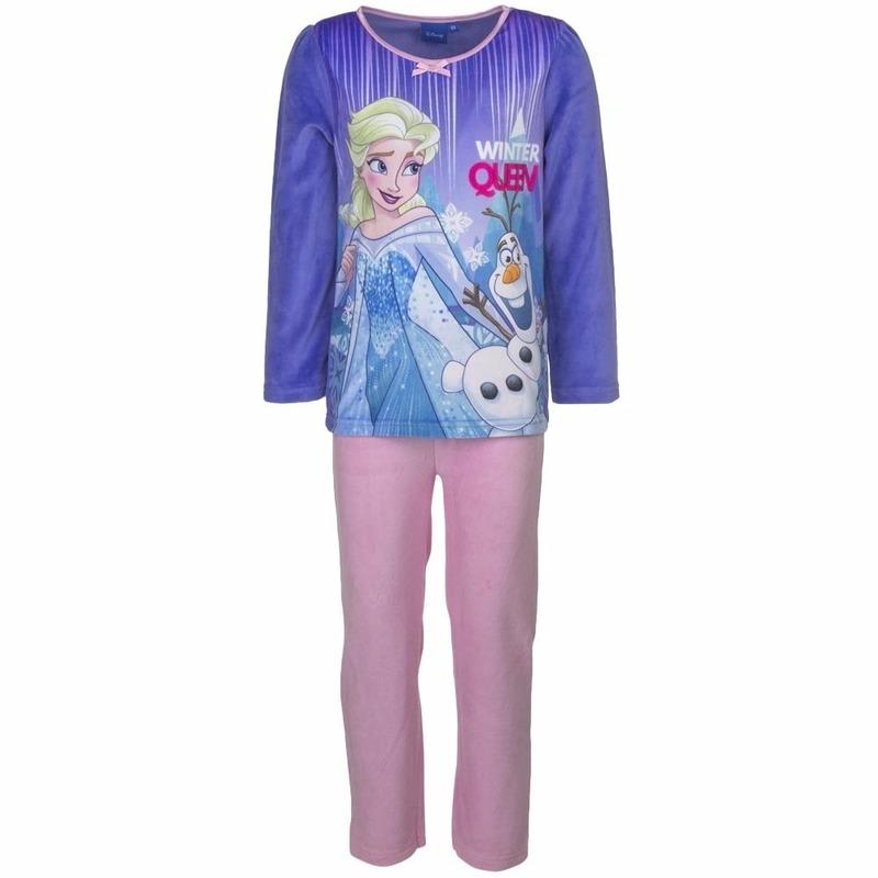 22eee590d5e18a Frozen elsa velours pyjama paars voor meisjes. de frozen meiden pyjama met  een afbeelding winter