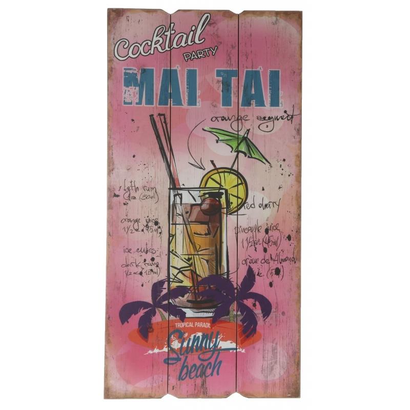 Houten wandbordje Mai Tai - Action products
