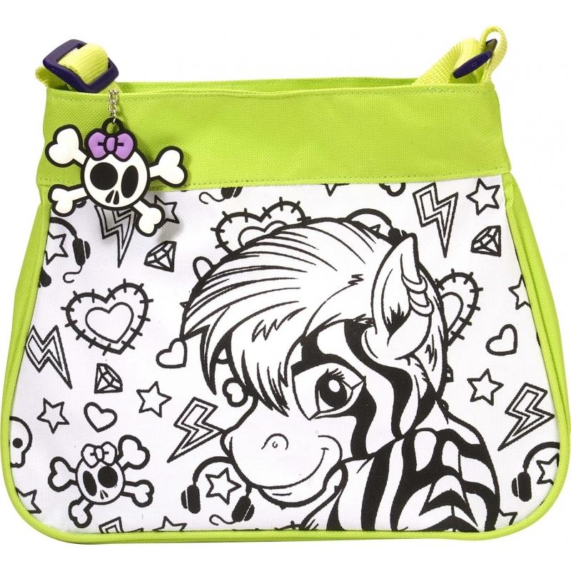 3c9b6c7aa1c Inkleurbare zebra tas voor kinderen. kinder schoudertas met zebra print om  in te kleuren!