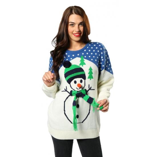 Kersttrui Met Muziek.Toppers Kersttrui Met Sneeuwpop Voor Volwassenen Primodo Warenhuis