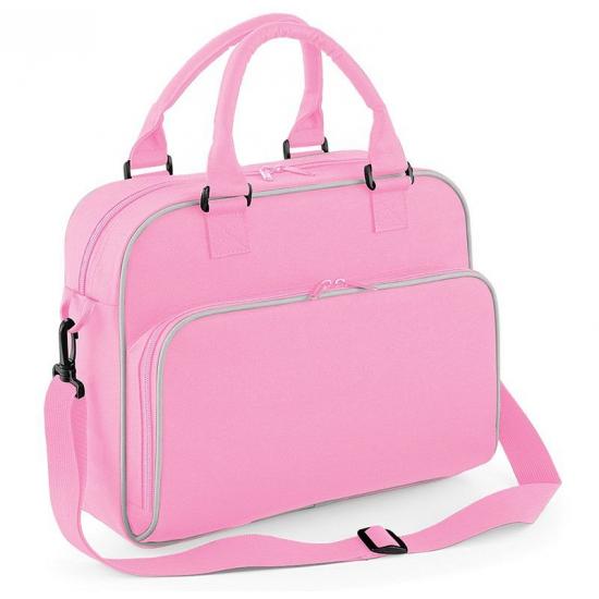 dd94e83429e Kindertas roze, voor bijvoorbeeld sportkleding, schoolreisje of uit  logeren. 39 x 29 x