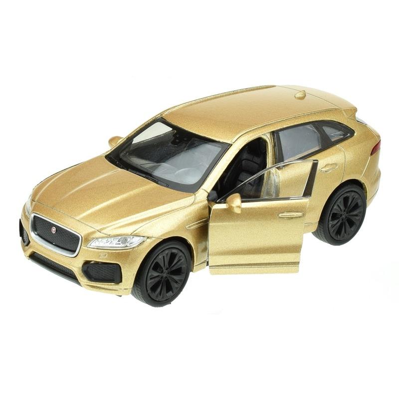 Modelauto Jaguar F-pace goudkleurig 1:34 - Action products