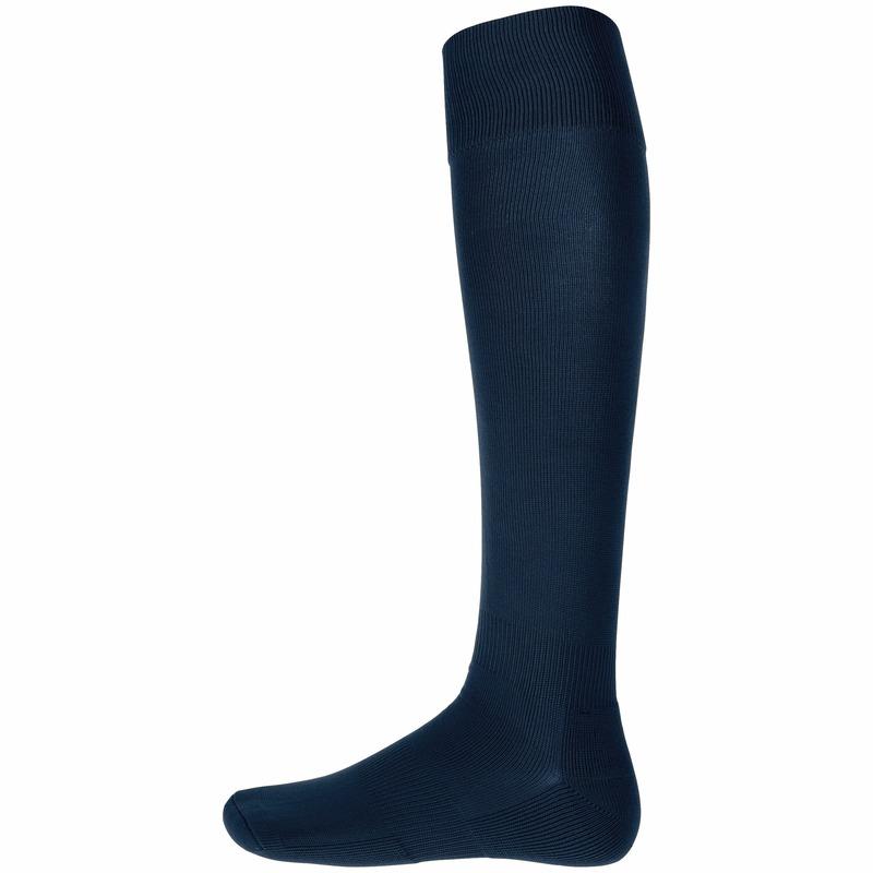 Navy blauwe hoge sportsokken voor volwassenen